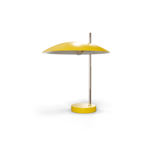 Lampe 1013 chrome, jaune off