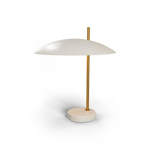 Lampe 1013 laiton brossé, blanc