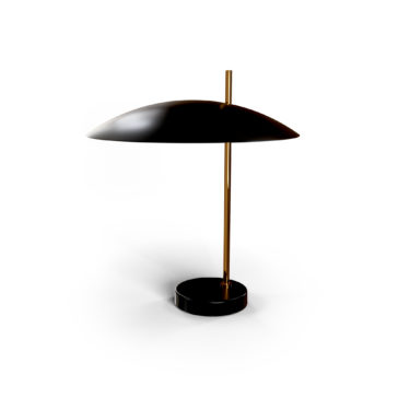 Lampe 1013 laiton doré, noir