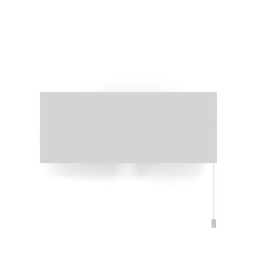 Applique 6135GM de Pierre Paulin, blanc avec tirette chrome