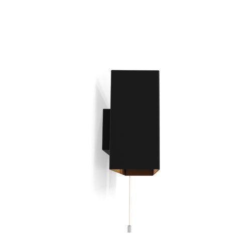 Applique 6135GM de Pierre Paulin, noir avec tirette chrome