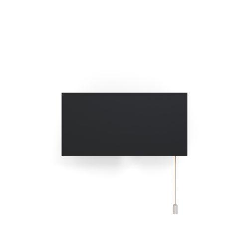 Applique 6135PM de Pierre Paulin, noir avec tirette chrome