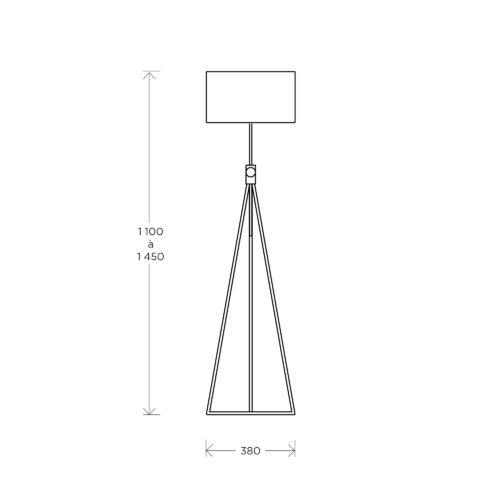 Lampadaire RF503 schéma Roger Fatus